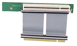PCI riser card with ribbon